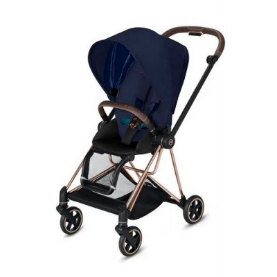 Poussette Cybex Mios 2019 Midnight Blue tissus plus Châssis Rosegold