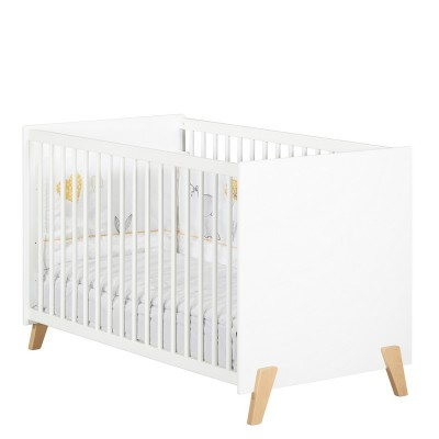 Lit bébé Baby Price Joy (120 x 60 cm) sommier 3 positions, coloris Naturel